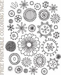 Free Floral Coloring Page Printable Freebies