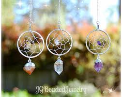 Dream Catcher With Crystals Quartz Dream Catcher Etsy 46