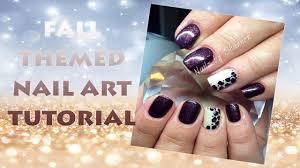 How To: Gelish Fall Nail Art Tutorial - YouTube