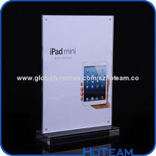 Restaurant Table Top Display Stands China Transparent acrylic table top menu holder display stand for 65