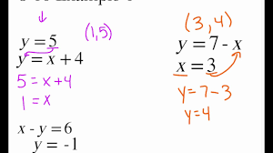 pre algebra 8 10 example 4 solving systems of equations by substitution