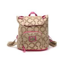 Coach Classic Monogram Medium Khaki Backpacks DHP