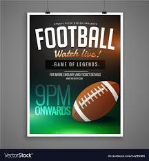 Free Football Invitation Templates Football Event Card Design Invitation Template