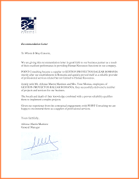 7 Recommendation Letter For A Company Sample Company Letterhead