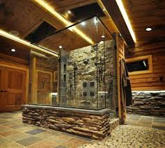 Interesting Rustic Shower Designs Bathroom Walk In Shone I Intended Modern Ideas