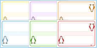 Free Name Cards Free Editable Penguin Themed Name Cards Name Tags