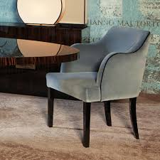 blue velvet dining chairs. High End Designer Egg-Shell Blue Velvet Dining Armchair Chairs V