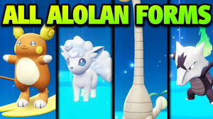 How to Get ALL Alolan Forms in Pokémon Let's Go Pikachu and Eevee - ALL  Alolan Form Locations! - YouTube