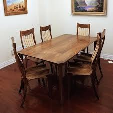 walnut dining table set bespoke heirloom walnut dining chair set maple walnut dining table and chairs