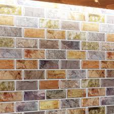 a17014 self adhesive mosaic tile backsplash color subway tile set of 10