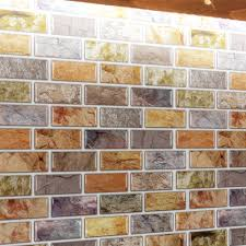 a17014 self adhesive mosaic tile backsplash color subway tile set of 10