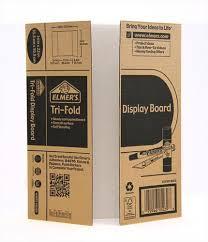 tri fold board size mini corrugated tri fold display board elmers display boards