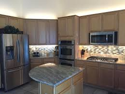 indoor kitchen cabinet lighting using max warm white led strip lights