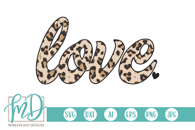 Download 5 mickey hands free vectors. Love Leopard Graphic By Morgan Day Designs Creative Fabrica In 2020 Svg Digital Sticker Svg Files For Cricut