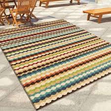 indoor outdoor area rug jumping jack multi striped 8 ft x 11 ft indoor outdoor area rug