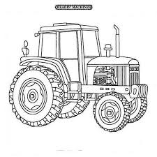Farmer Tractor Coloring Page Download Print Online Coloring