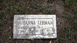 Johanna Lehman (1848-1923) - Find A Grave Memorial