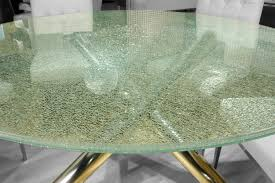 Round Smoked Glass Dining Table Crackled 60 Round Dining Table Top