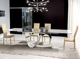unico contemporary rectangular infinity extending glass dining table thumbnail