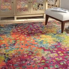 bungalow rose massaoud multi colored area rug reviews wayfair bright colored area rugs bright solid color