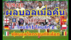 ผลบอลเมื่อคืน/ฟุตบอลโลกรอบคัดเลือกโซนยุโรป/ไฮลักซ์รีโว่ไทยลีกT1-T2/เจลีกคัพ/ตารางคะแนน/5/9/21  | เว็บไซต์นำเสนอ ข่าวสารเกี่ยวกับกีฬา - POPASIA - เนื้อเพลง, คอร์ดเพลงใหม่ๆ  | #1 ประเทศไทย