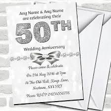 50th Anniversary Party Invitations White Bokeh Silver Glitter Look 50th Anniversary Party Invitations Ebay