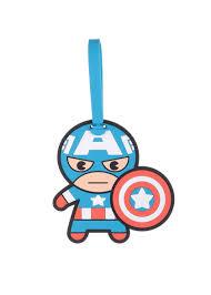 Брелок для <b>сумки</b> Miniso <b>Marvel</b> Luggage Tag <b>Captain</b> America ...