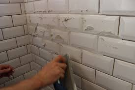because of the angles on the edges it s difficult to just shove grout into the line so you sorta get it everywhere it was very slow going at first