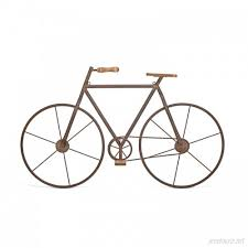 on metal bike with basket wall decor with tripar metal bicycle wall d cor trip1198
