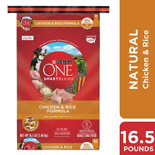 Purina One Natural Dry Dog Food Smartblend Chicken Rice Formula 16 5 Lb Bag
