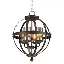 sea gull lighting 3110404 715 sfera 4 light chandelier in autumn bronze with mercury glass