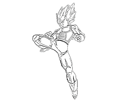 Dragon Ball Z Super Vegeta Coloring Page Hm Pages With Viettiinfo