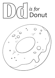 Small Picture Letter D Is For Donut Coloring Page Download Education Letter