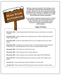 give your students a winter break art challenge the art of ed giving a winter break