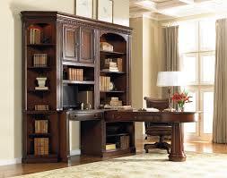 office wall desk. Hooker Furniture European Renaissance II Office Wall Unit With Peninsula Desk, Computer Credenza And Storage Cabinet | Story \u0026 Lee L-Shape Desk