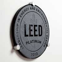 Congratulations On Your Project S Leed Certification Green Plaque