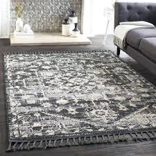 area rugs wayfair distressed charcoal light gray rug 4x6 round 5x7 area rugs wayfair