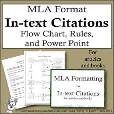 Mla Format For Articles Mla Format In Text Citations Flow Chart Rules And Power