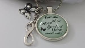 Anlässe Spruch Familie Infinty Schlüsselanhänger Glascabochon