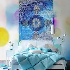 indian mandala tapestry wall hanging blue sofa cover bohemian bedspread home dec us 22 45
