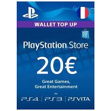 Playstation fr Network pf – 20€ Code Cartecadeau psn Carte Numérique