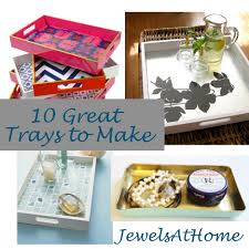 How To Make Decorative Trays DIY Decorative Trays Ten Great Ideas Jewels at Home 2