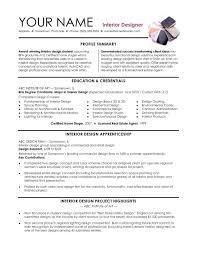 Architectural Designer Resume Job Description Beautiful Interior Designer Profile Sample Resume Examples