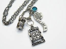 quilters necklace i love quilting jewelry personalized birthstone necklace sewing fabric quilt