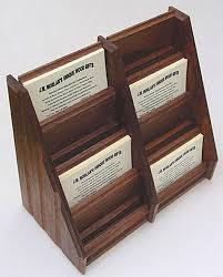 artwork johnny j w morlan custom made walnut wood multiple desktop business card holder