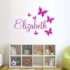 custom made butterfly personalized wall sticker name vinyl pertaining to decals idea 3  on custom vinyl wall art canada with personalized wall decals nrdesigns