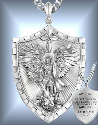 triumph of st michael pendant necklace gift for son