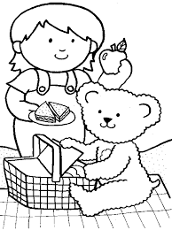 Small Picture Beautiful Picnic Coloring Pages 64 For Line Drawings with Picnic