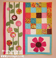 Piece N Quilt: Modern Baby Quilt - Tutorial & It's an anonymous contest so I can't tell you what we designed for this  week. But I can share the tutorial for our Modern Baby Quilt. 40