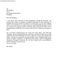 Apologize Business Letter Format Of Apologize Letter Sample Business Apology Letter Templates